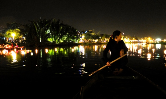 Sampan on the Thu Bon River, Hoi An